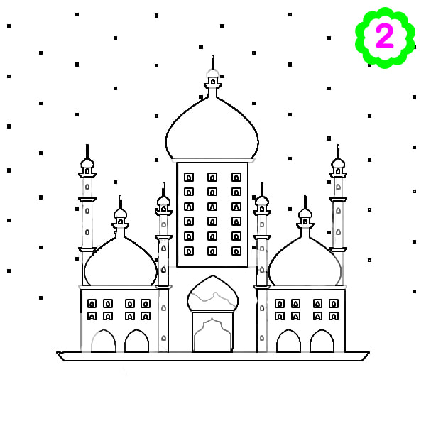 Colouring page Mosque, Islamic colouring, Islamic activity for kids, Islamic design, ADaBi