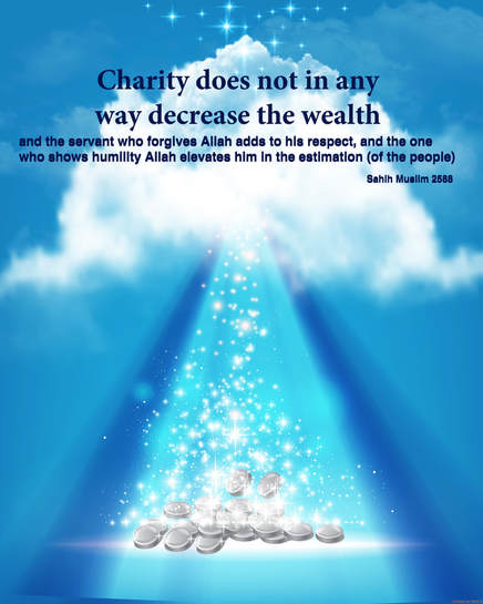Infographic Hadith, Charity doesn't decrease wealth, ADaBi Publishing