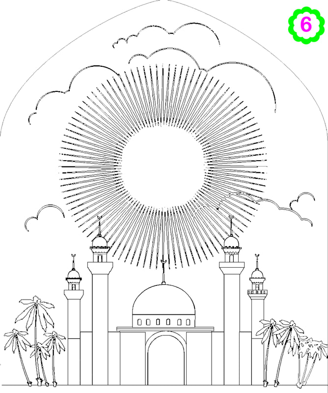 Islamic colouring page, colouring Mosque, Islamic activity for kids, Islamic  design, ADaBi books