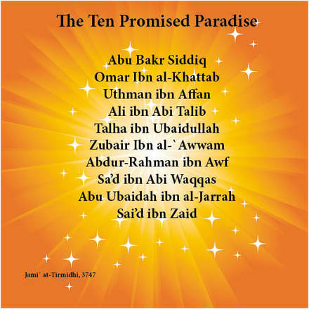 Infographic names of the Ten Promised Paradise